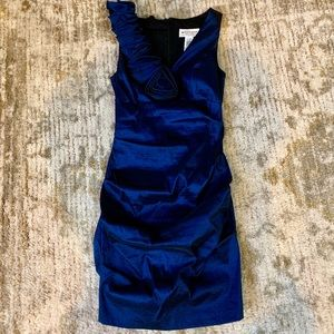 Navy blue taffeta dress- Size 6